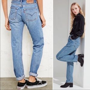 Vintage 501 Levis Button Fly Straight Leg Jeans